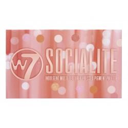 W7 - Socialite Multi - Textured Pressed Pigment Palette