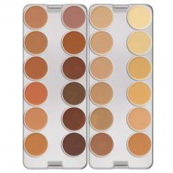 Kryolan - Dermacolor Camouflage Creme Palette 24 colors - Model K